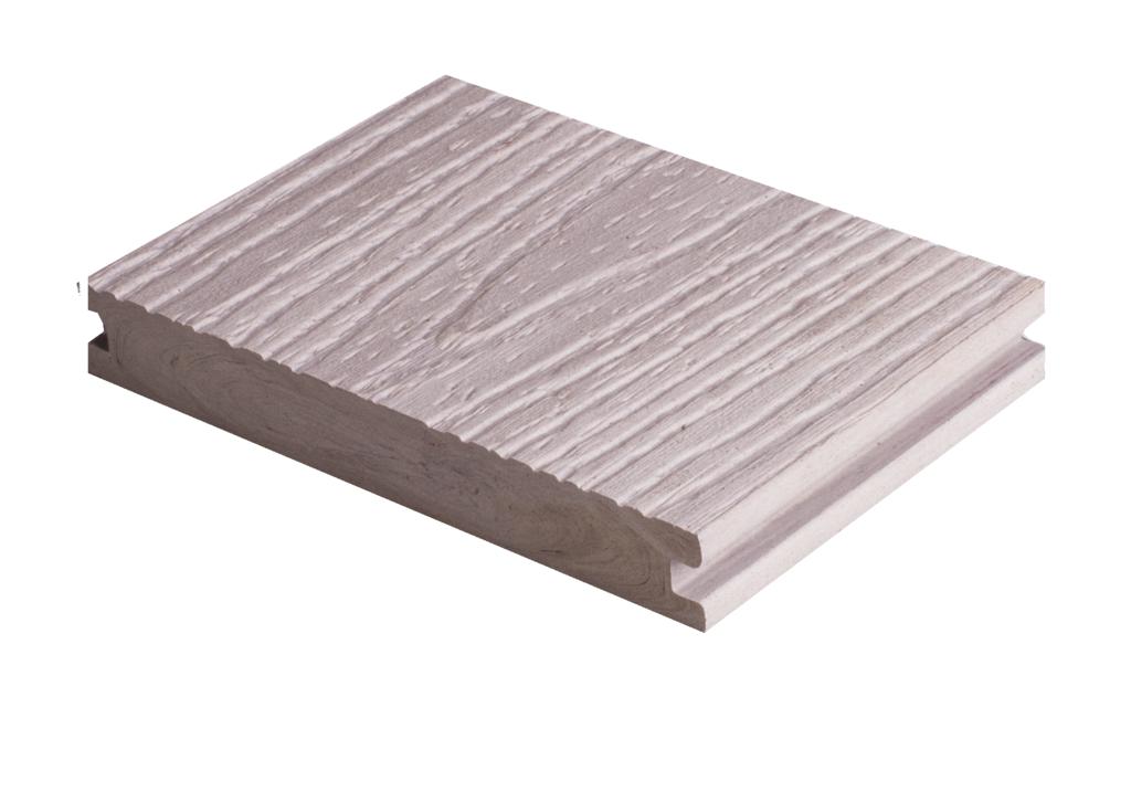 grojasolid efecto bpc terrassendiele 140x20 mm bi color weiss z une sichtschutzelemente im. Black Bedroom Furniture Sets. Home Design Ideas