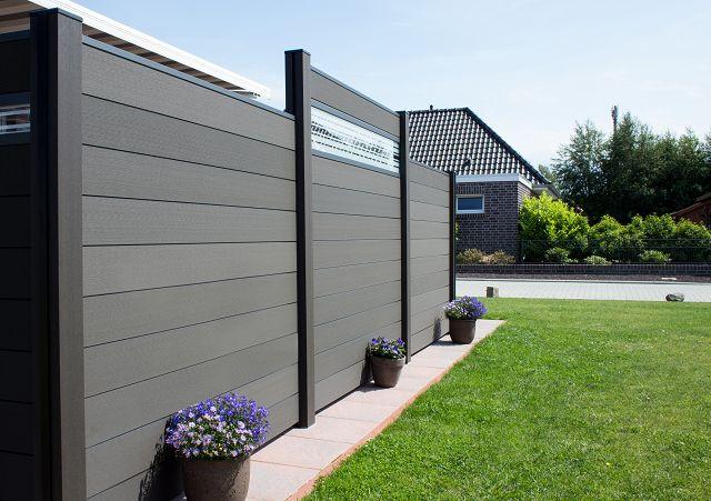Sichtschutz Zaun Grau Anthrazit Zaune Sichtschutzelemente