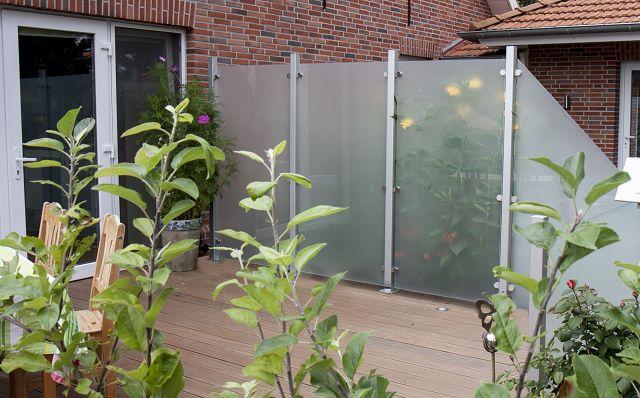 Montage Hpl Und Glas Sichtschutz Zaune Sichtschutzelemente Im